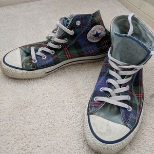 Converse All Star Hightop Plaid Snaker